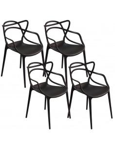 4 x Krzesło MASTER czarne