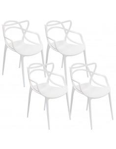 4 x Krzesło MASTER białe