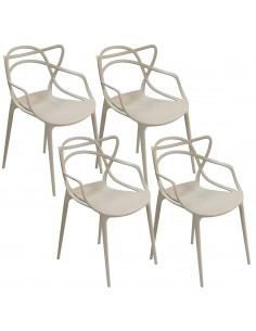 4 x Krzesło MASTER szare