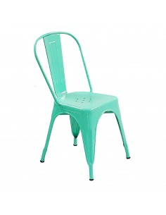 Krzesło metalowe Paris miętowe