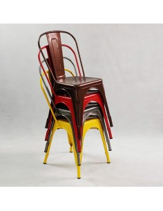Krzesło PASSION ekoskóra czarno-białe - włókno szklane/chrom, outlet
