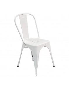 Krzesło metalowe Paris białe