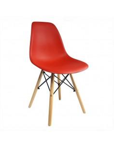 Krzesło DSW Milano czerwone