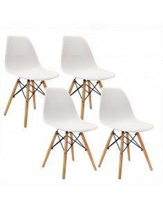 Krzesła DSW Milano białe 4 szt