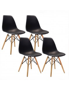 Krzesła DSW Milano czarne 4...