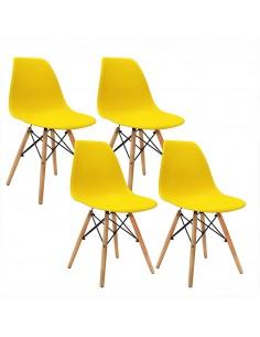 Krzesła DSW Milano żółte 4 szt
