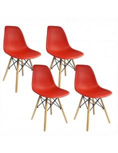 Krzesła DSW Milano czerwone...