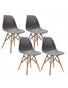 Krzesła DSW Milano ciemno...