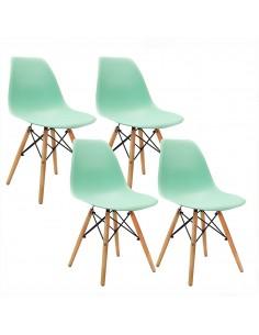 Krzesła DSW Milano miętowe...