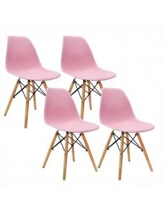 Krzesła DSW Milano różowe 4...