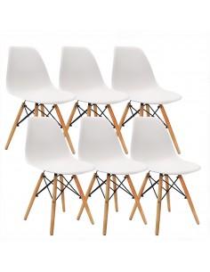 Krzesła DSW Milano białe 6 szt