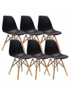 Krzesła DSW Milano czarne 6...