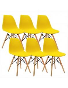 Krzesła DSW Milano żółte 6 szt