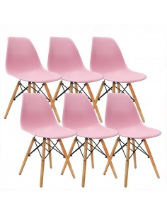 Krzesła DSW Milano różowe 6...
