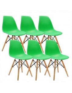 Krzesła DSW Milano zielone...
