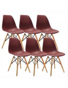 Krzesła DSW Milano brązowe...