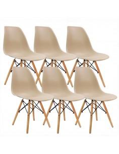 Krzesła DSW Milano beżowe 6...