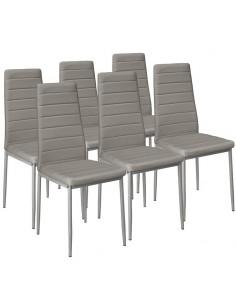 Krzesła Nicea szare 6 sztuk