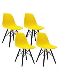 4 krzesła DSW Milano żółte,...