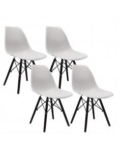 4 krzesła DSW Milano szare,...