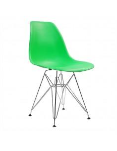 4 x Krzesło DSW Milano szare - nogi białe