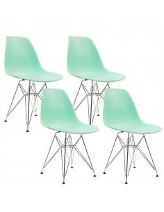 4 krzesła DSR Milano miętowe