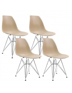 4 krzesła DSR Milano beżowe