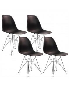 4 krzesła DSR Milano czarne