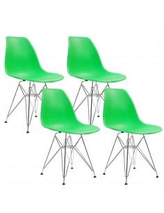 4 krzesła DSR Milano zielone