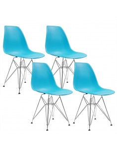 4 krzesła DSR Milano ciemno...