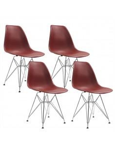4 krzesła DSR Milano brązowe
