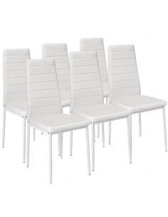 Krzesła Nicea białe 6 sztuk