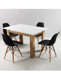 OUTLET Krzesło GLOSS ITALIA czarne - poliwęglan