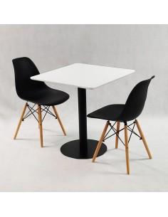 Zestaw balkonowy BISTRO brązowy - stół i 2 krzesła