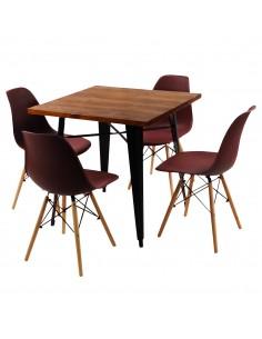 Zestaw stół PARIS czarny i...