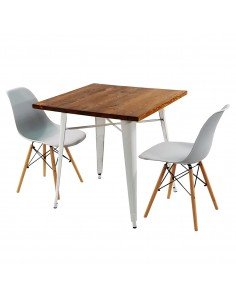 Zestaw stół PARIS biały i 2...