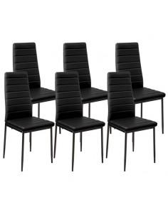 Krzesła Nicea czarne 6 sztuk