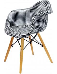 Fotel DAW Pepitka tapicerowany