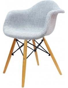 Fotel DAW Szary tapicerowany